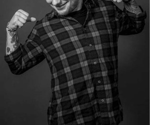 ed sheeran, black and white, and ed image