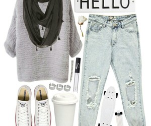 converse, outfit, and Polyvore image
