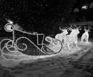 christmas, lights, and reindeers image