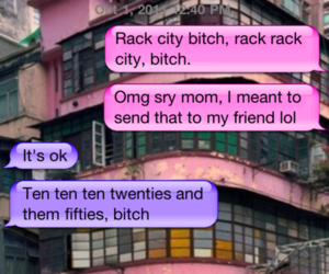 iphone, mom, and rack city image