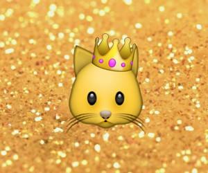 cat, emoji, and crown image