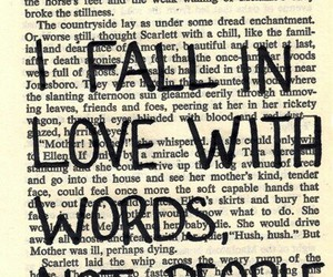 love, words, and book image