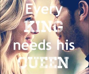 couple, king, and kiss image