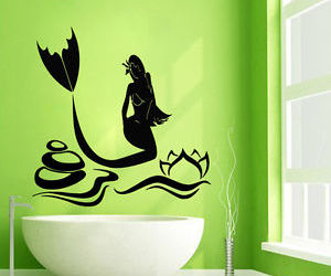 mermaid, Vinyl Decal, and wall decor image
