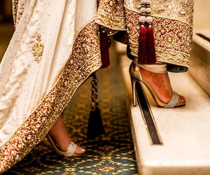 dress, pakistani, and pakistani bride image
