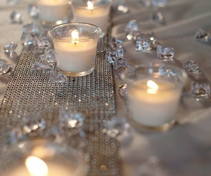 candle, emerald, and gold image