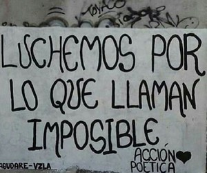 imposible, accion poetica, and luchemos image