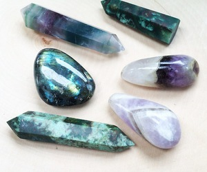 stone, crystal, and blue image