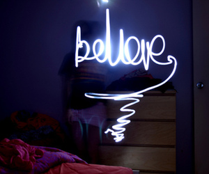 believe and light image