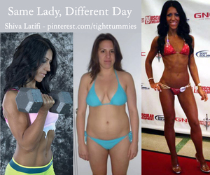 before and after, during, and diet image
