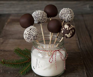 chocolate, food, and cake pops image