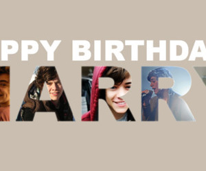 Harry Styles, one direction, and happy birthday image