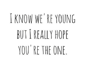 love, quote, and young image