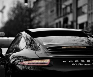 car, porsche, and black image
