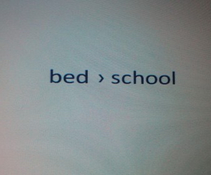 school, bed, and grunge image