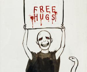 harry potter, voldemort, and hug image