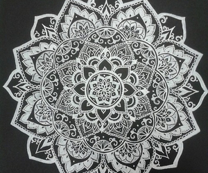 mandala, art, and flowers image