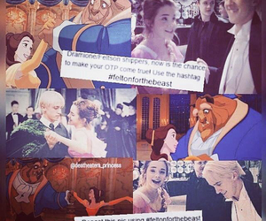 beauty and the beast, dramione, and feltson image