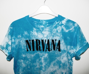 blue, nirvana, and clothes image