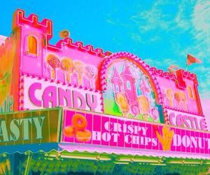 candy, pink, and castle image