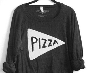 pizza, fashion, and sweater image