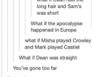 dean, misha, and supernatural image