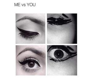 funny, eyeliner, and eyes image