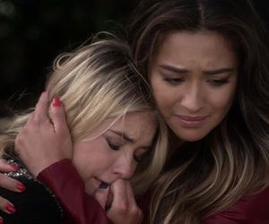 crying, sad, and pretty little liars image