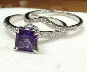 diamond amethyst ring set image