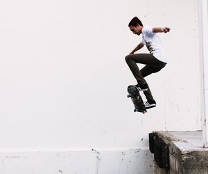skate, boy, and jump image