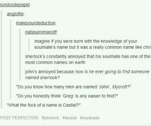 sherlock, supernatural, and tumblr image