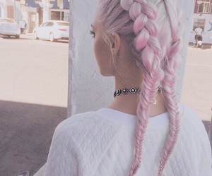 90's, hairstyle, and pink image