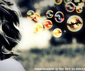 bubbles, edited, and imagination image