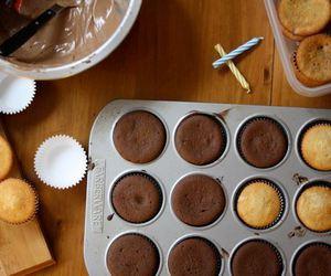 birthday, chocolate, and cupcake image
