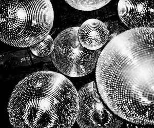black and white, party, and disco image