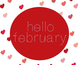 february, hearts, and hello february image
