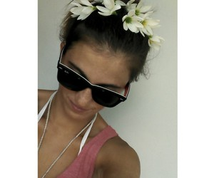 bun, crown, and flowers image