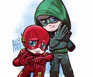 arrow, oliver queen, and flash image