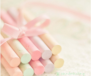 pastel, pink, and chalk image