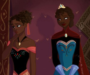 black elsa and anna image