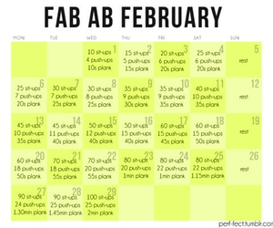 abs, workout, and february image