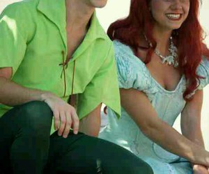 ariel, peter pan, and cosplay image