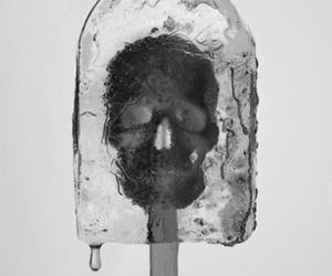 skull, ice, and ice cream image