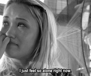 alone, sad, and cyberbully image
