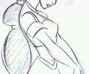 disney, jasmine, and drawing image