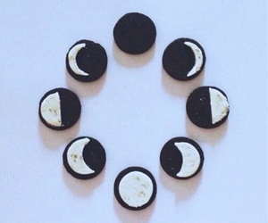 oreo, moon, and food image