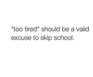 school, tired, and funny image