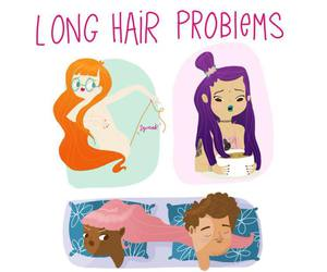 long hair and problems image