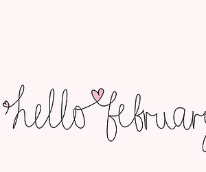 february, hello, and heart image
