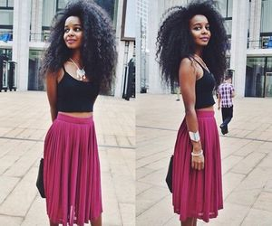 Afro, girly, and hair image